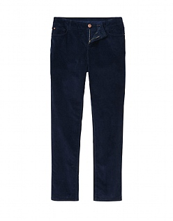 Cord Slim Trouser in Dark Navy