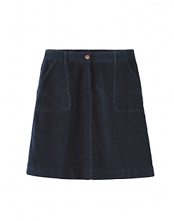 Cargo Cord Skirt in Dark Navy