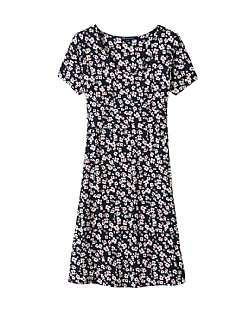 Primrose Jersey Dress in Navy