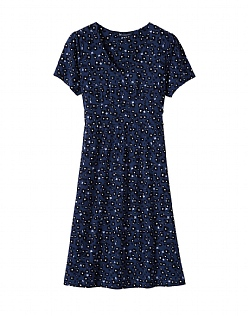 Primrose Jersey Dress in Indigo Blue
