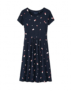 Pembury Jersey Dress in Navy