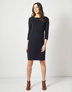 Milano Knitted Dress in Black