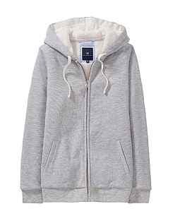 Kingsbridge Fleece Lined Hoody in Chalk Grey Marl