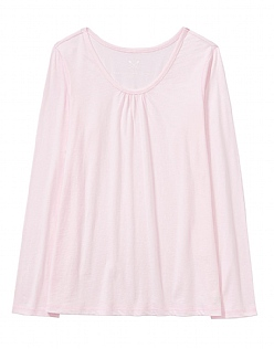 Ruched Pyjama Top in Soft Classic Pink