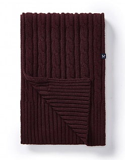 Kirkby Cable Scarf  in Damson