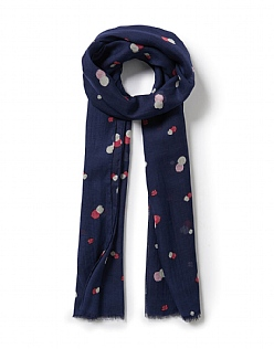 Summer Spot Scarf in Navy