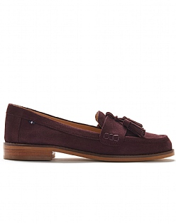 Tassel Loafer in Damson Purple