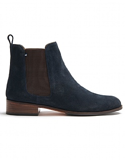 Chelsea Boot in Navy Suede