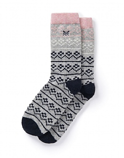 Fairisle Boot Sock