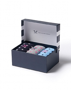 3 Pack Bamboo Sock Box Set