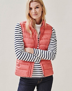 Lightweight Gilet in Spiced Coral