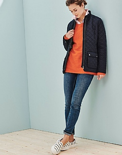 Forres Quilted Jacket in Navy