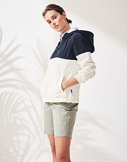 Sail Popover Jacket in Ivory Stripe