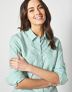 Gingham Classic Fit Shirt in Spring Green