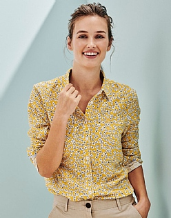 Agnes Flower Printed shirt in Yellow