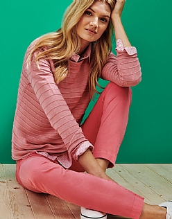 The Salcombe Jumper in Antique Pink