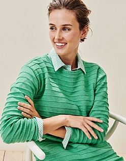 The Salcombe Jumper in Copper Green
