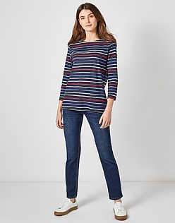 Essential Breton T-Shirt in Navy Mutli Stripe