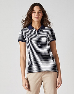 Classic Polo Shirt in Navy Stripe