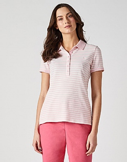 Classic Polo Shirt in Pink Stripe