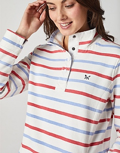 Padstow Pique Sweat in Red Stripe