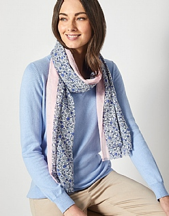 Ditsy Scarf in Blue