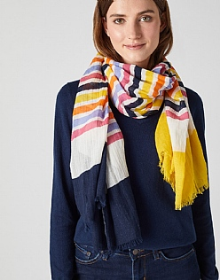 Colour Block Stripe Scarf