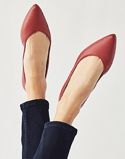 Pointed Leather Ballet Pump