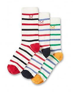3 Pack Cotton Socks in Navy