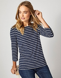 Essential Breton T-Shirt In Navy