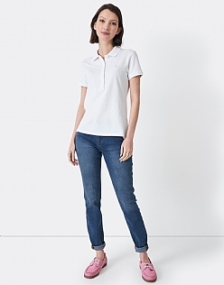 Skinny Jean In Worn Out Mid Wash Blue