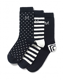 3 Pack Spot/Stripe Bamboo Socks