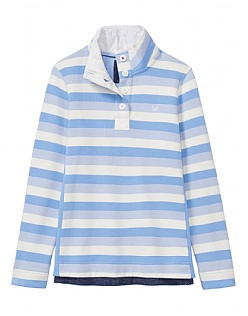Half Button Sweatshirt in Blue